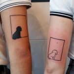 Matching dog tattoos by Lara Simonetta