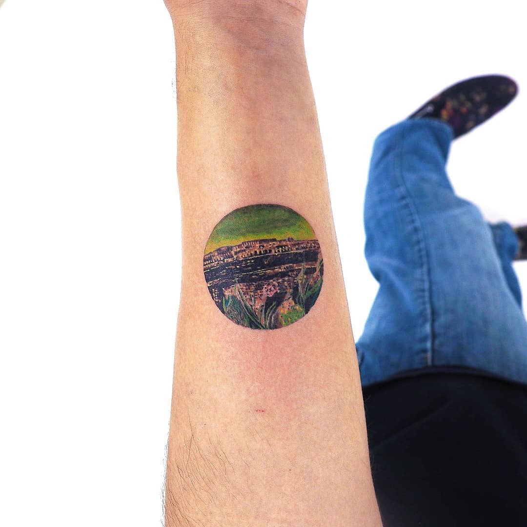 Max Ernst's 1934 'The Entire City' tattoo by anton1otattoo