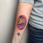 Miami vibes tattoo by Eugene Dusty Past