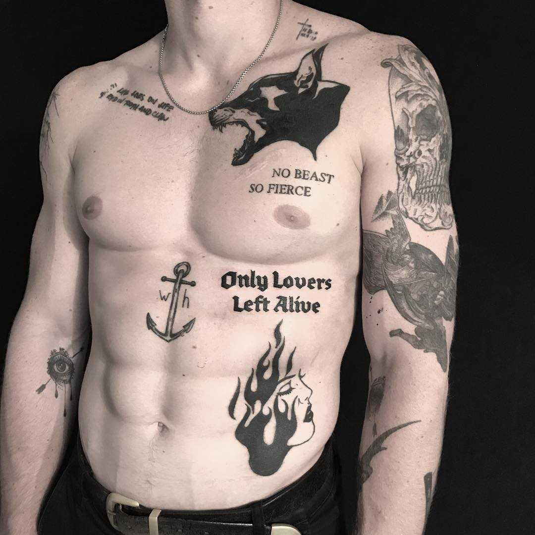 No beast so fierce tattoo by Johnny Gloom