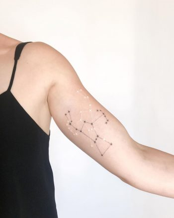 Orion constellation tattoo by Ann Gilberg