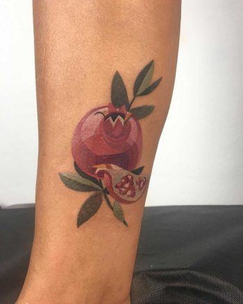 Pomegranate tattoo by Mavka Leesova