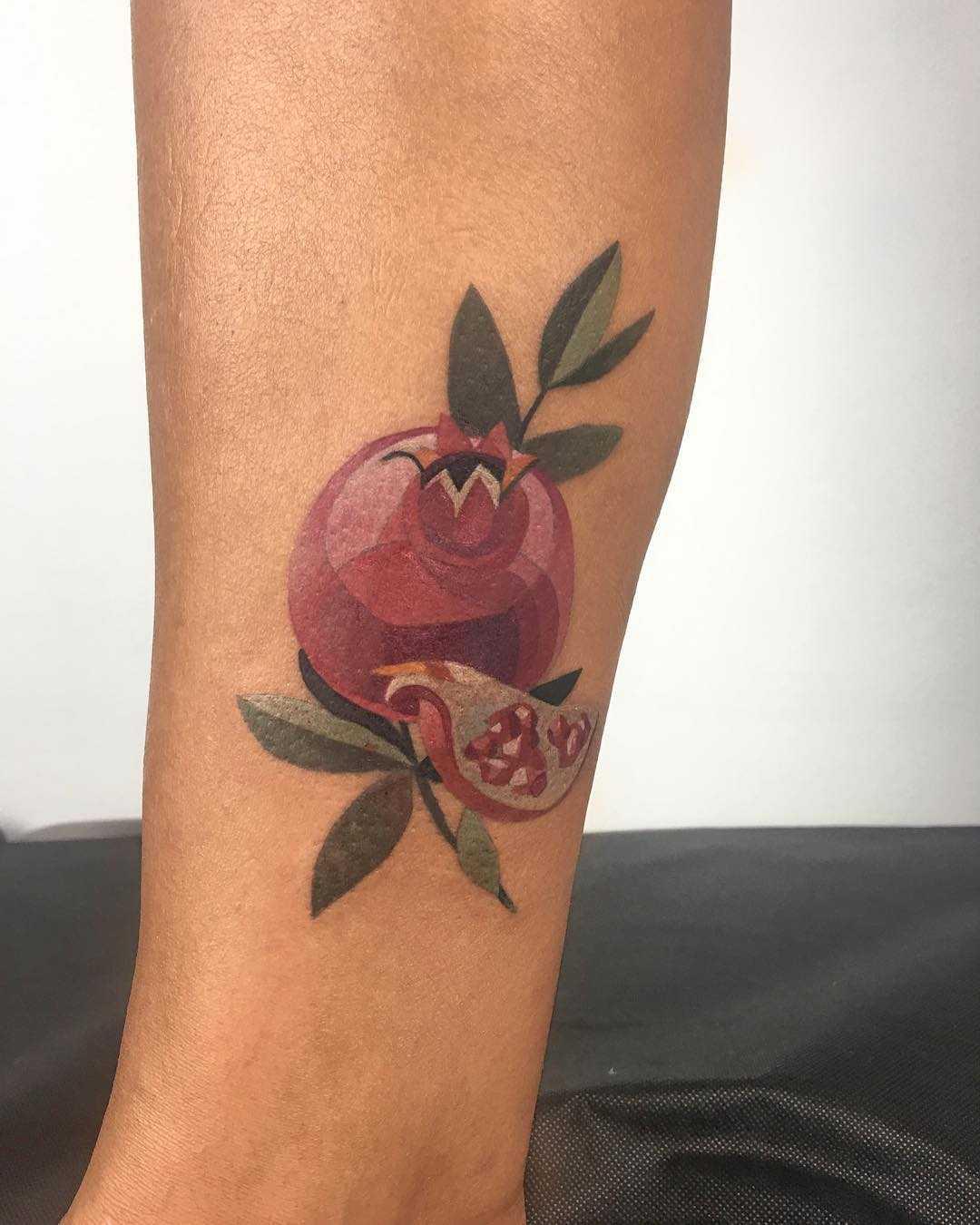 Pomegranate tattoo by Mavka Leesova