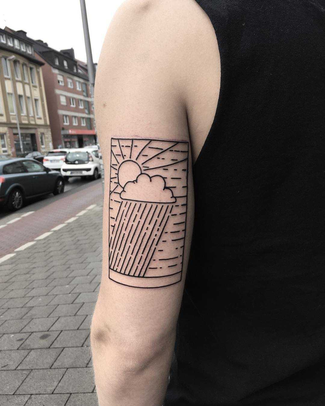 Rainy days by tattooist Spence @zz tattoo