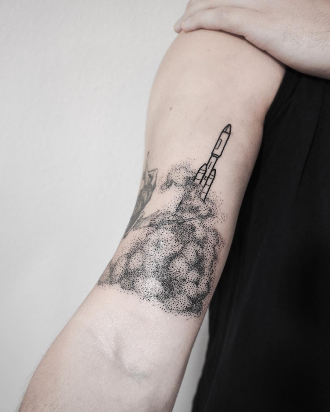 Rocket tattoo by Ann Gilberg