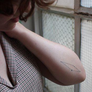 Scutum constellation tattoo by Stanislava Pinchuk