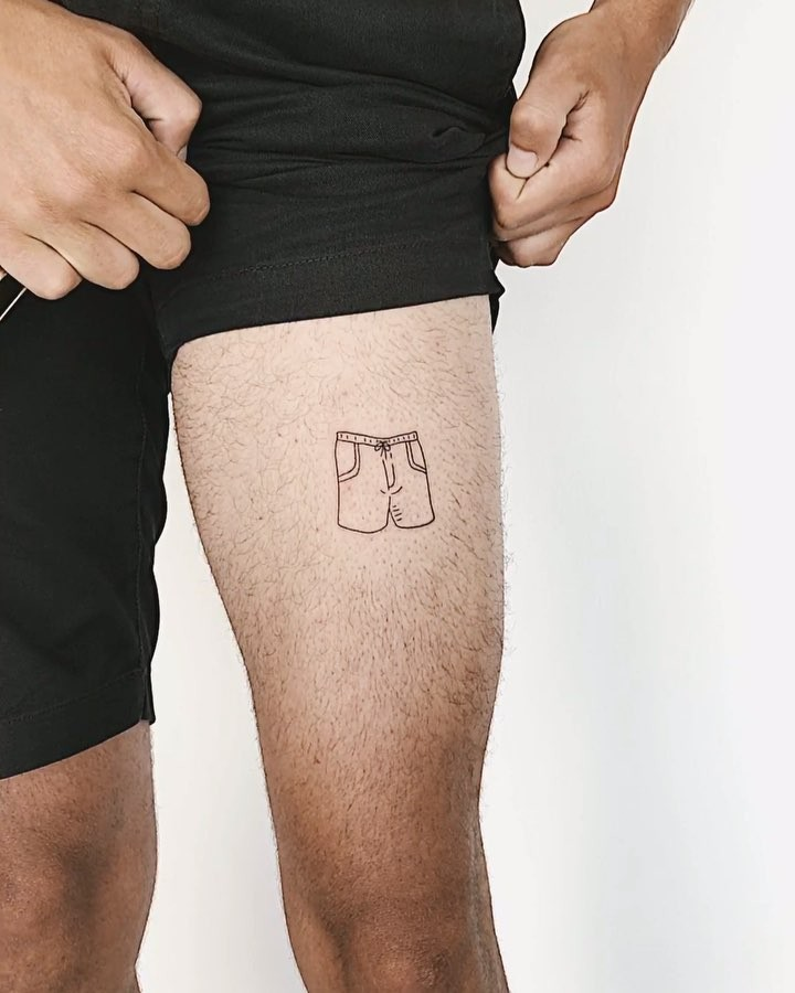 Shorts tattoo by Sasha But.maybe
