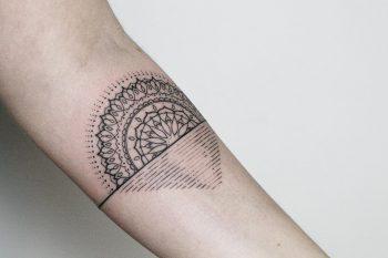 Sunset mandala by tattooist Spence @zz tattoo