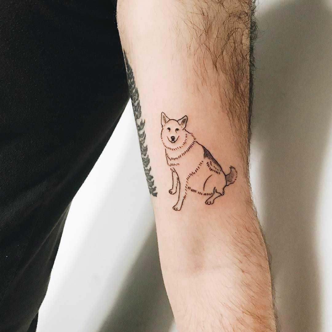 Sweet puppy tattoo by Kelli Kikcio