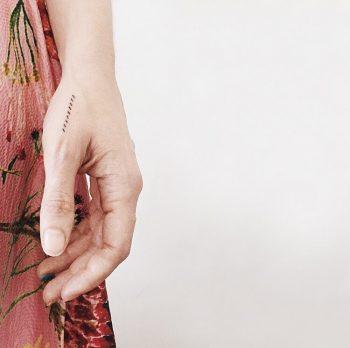 Sybilles weaving pattern tattoo by Stanislava Pinchuk