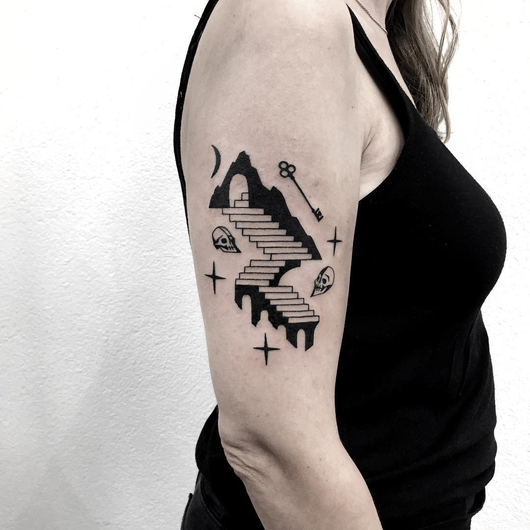 The eternal seek tattoo by tattooist Miedoalvacio