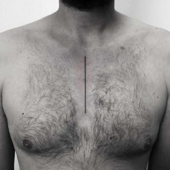 Thin line tattoo by Oliver Whiting