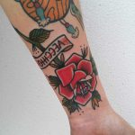 Traditional rose tattoo by Lara Simonetta