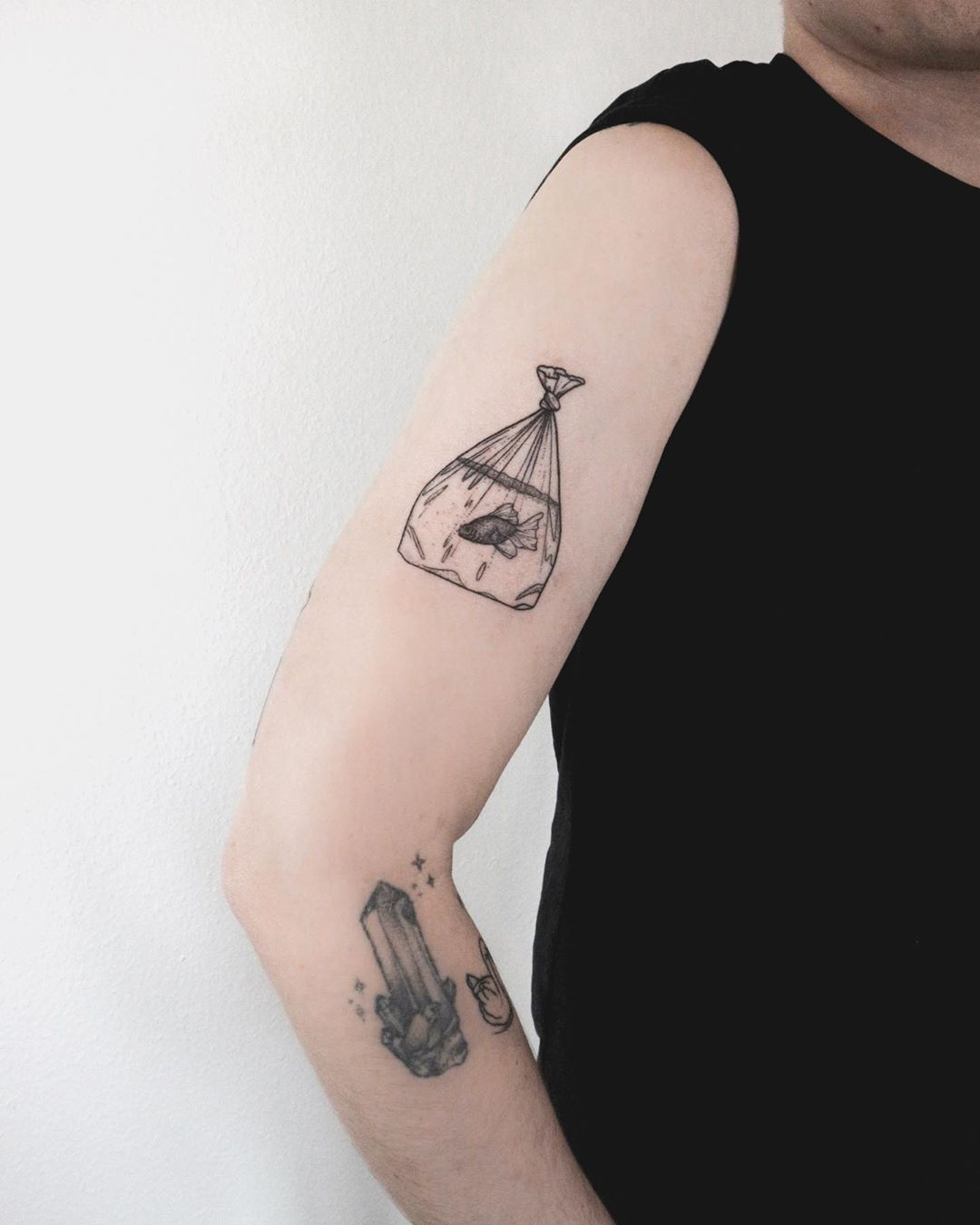 Transportable fish tattoo by Ann Gilberg