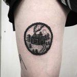 Walden cabin tattoo by Deborah Pow