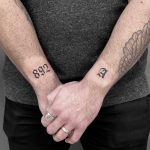 892 and A tattoos by Loz McLean