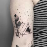 Abstract camping tattoo by Julim Rosa