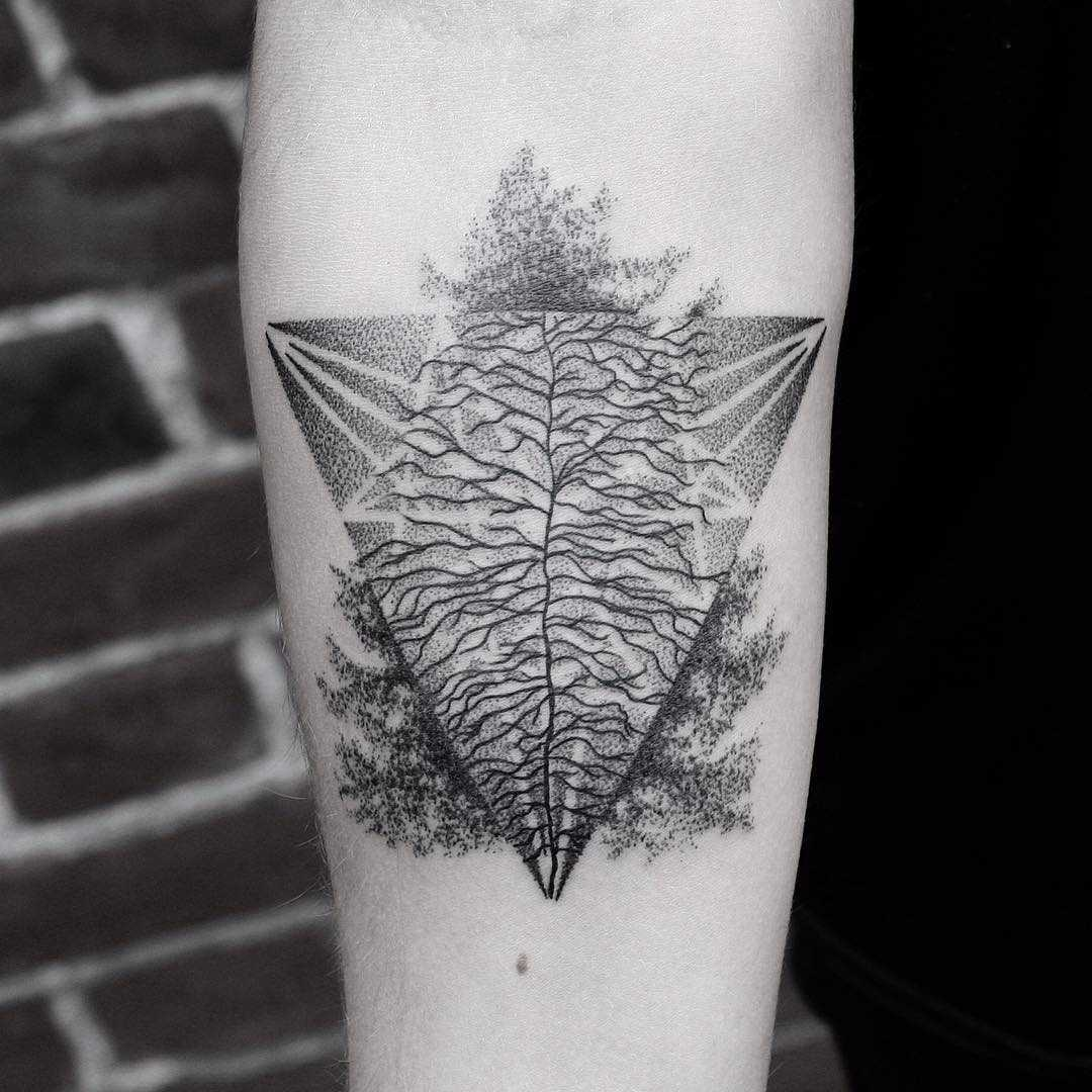 Abstract tree tattoo by Oliver Whiting