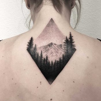 Alpenspitze tattoo by tattooist Spence @zz tattoo
