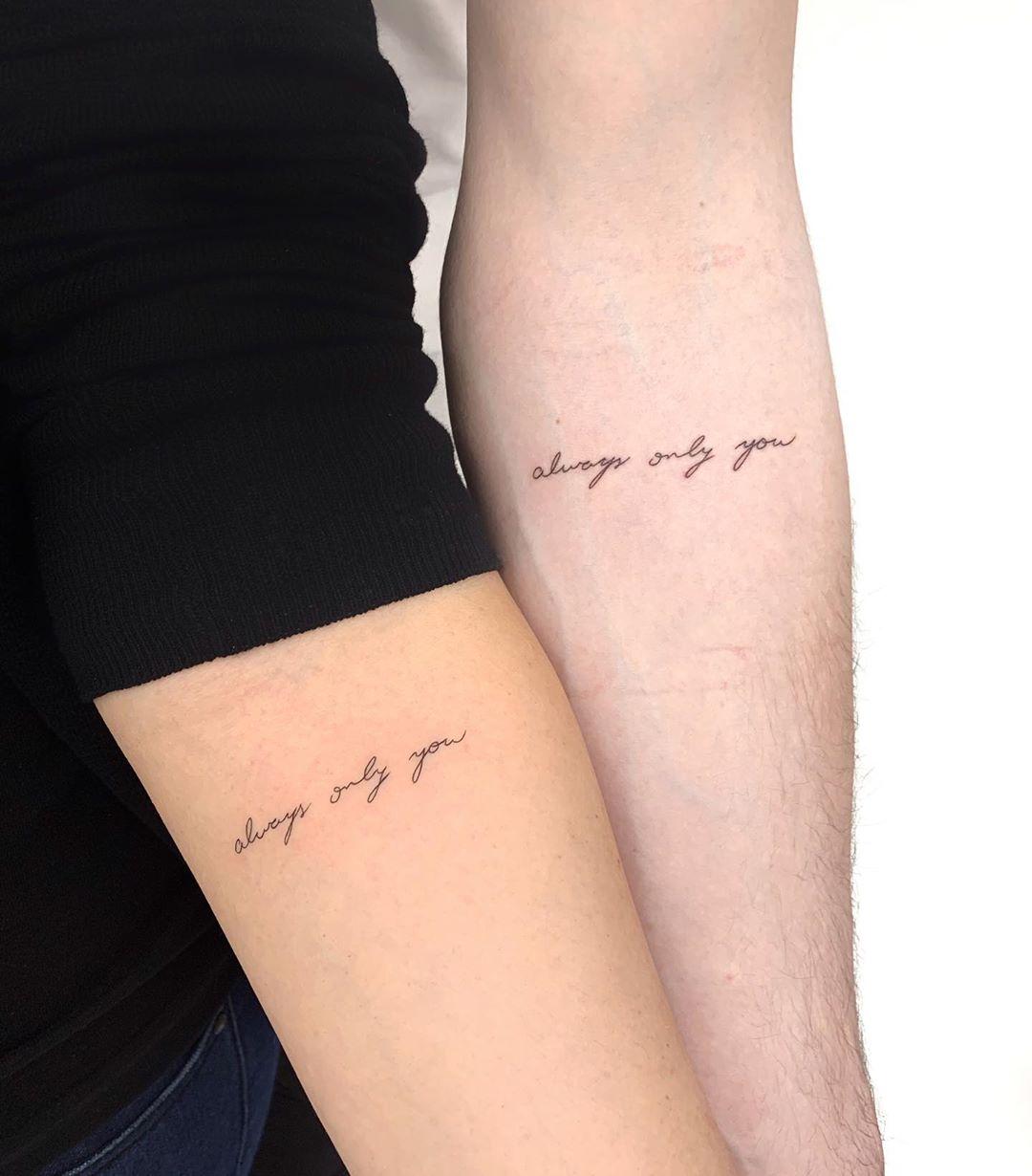 Always only you tattoo by Gianina Caputo