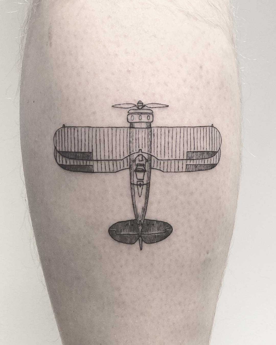 An old airplane tattoo by Annelie Fransson