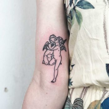 Angels kiss by Hand Job Tattoo