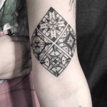 Azulejo tilework pattern tattoo by Meritattoon