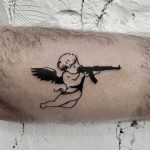 Bad angel tattoo by Kevin Jenkins