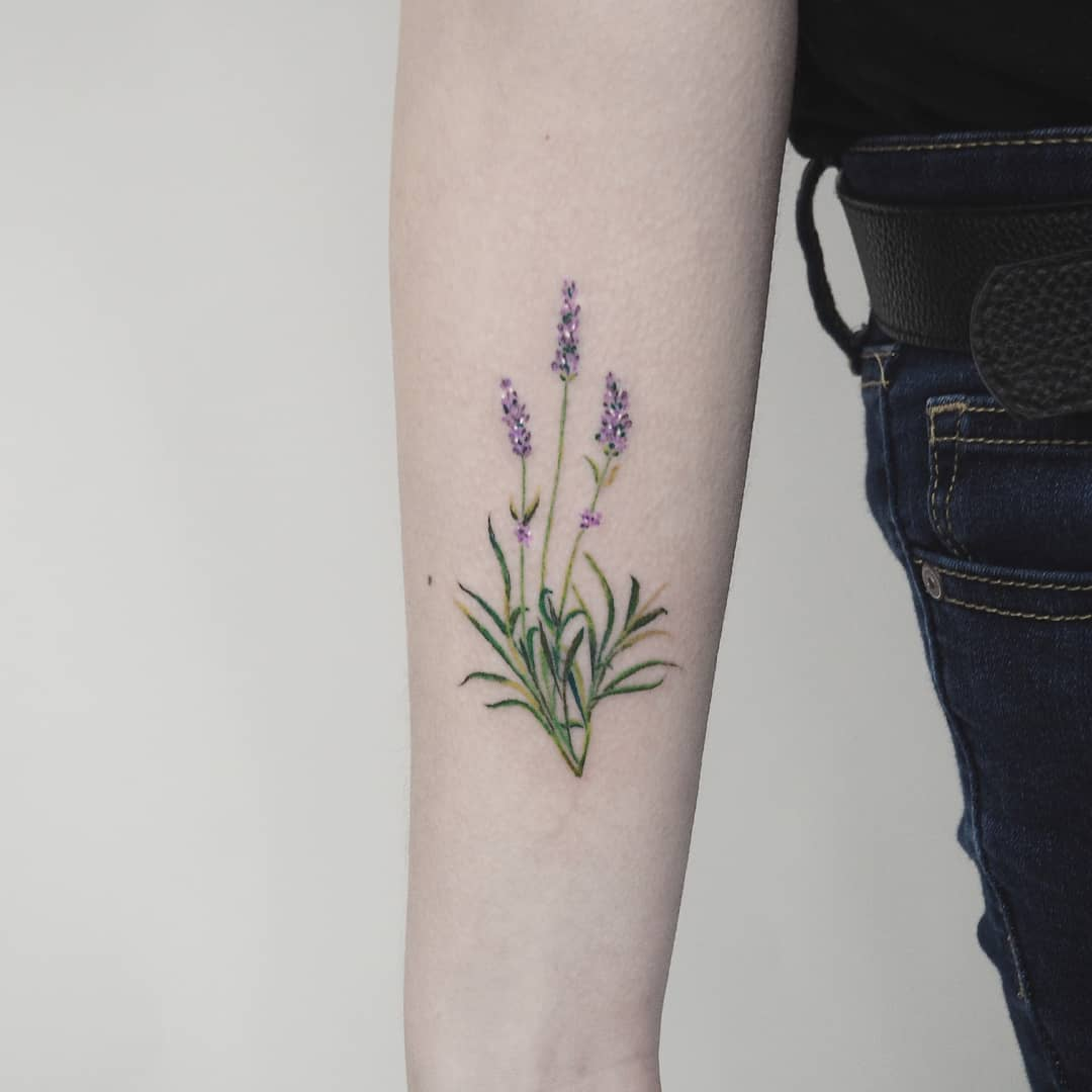Beautiful lavander by anton1otattoo