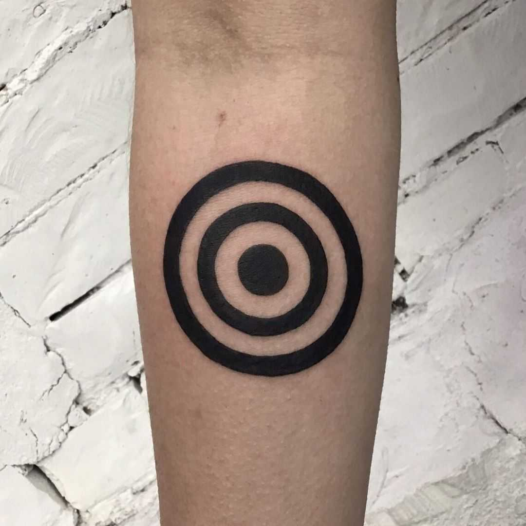 Black️ rings tattoo by Kevin Jenkins
