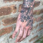 Black florals by Tine DeFiore