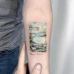 Bon Iver album cover tattoo by Eden Kozo