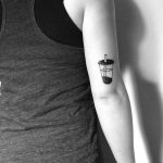Bubble tea tattoo by Chinatown Stropky
