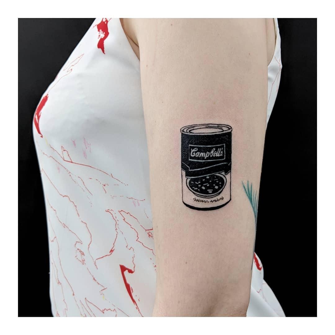 Canned soup tattoo by Sabrina Parolin
