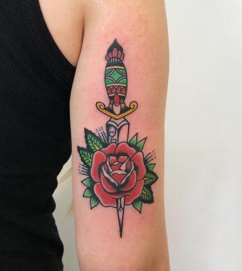 Classic rose and dagger by Łukasz Krupiński