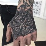 Compass tattoo on the hand by Luke.A.Ashley