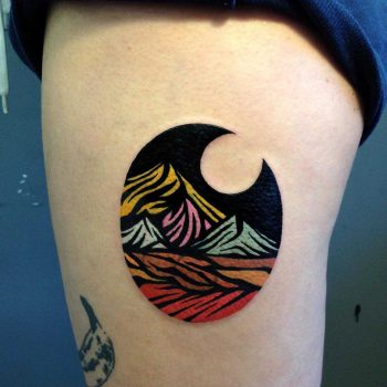 Cover-up landscape by Eugene Dusty Past