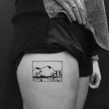 Custom thigh piece by Chinatown Stropky