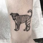 Cute dog tattoo by Deborah Pow