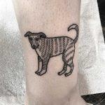 Cute dog tattoo by Deborah Pow