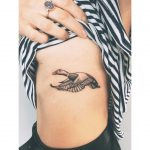 Cute little mallard tattoo by Zaya Hastra