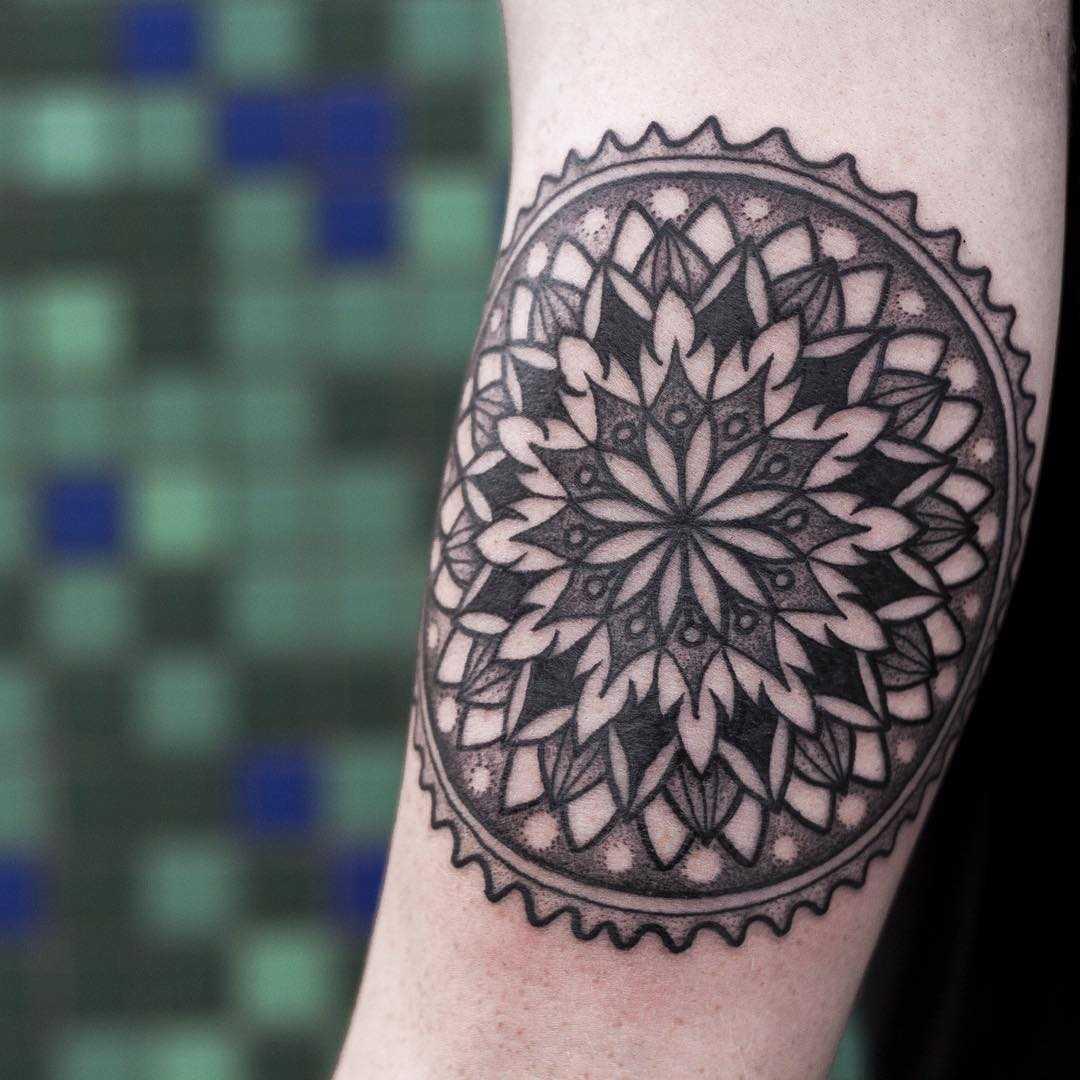Cycling mandala tattoo by Wagner Basei
