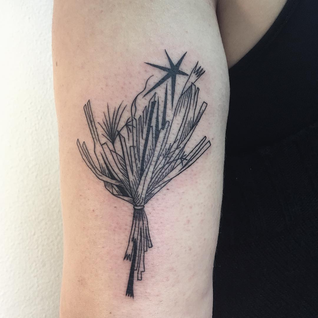 Dead flowers tattoo by Agata Agataris