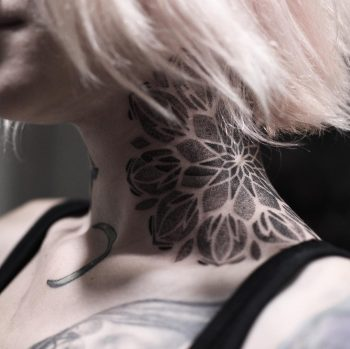 Dot-work neck mandala by Wagner Basei