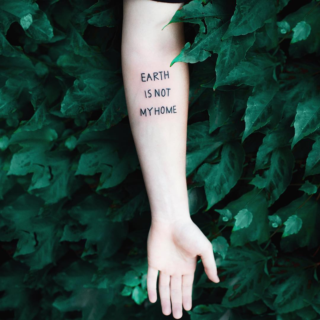Earth is not my home tattoo by Dżudi Bazgrole