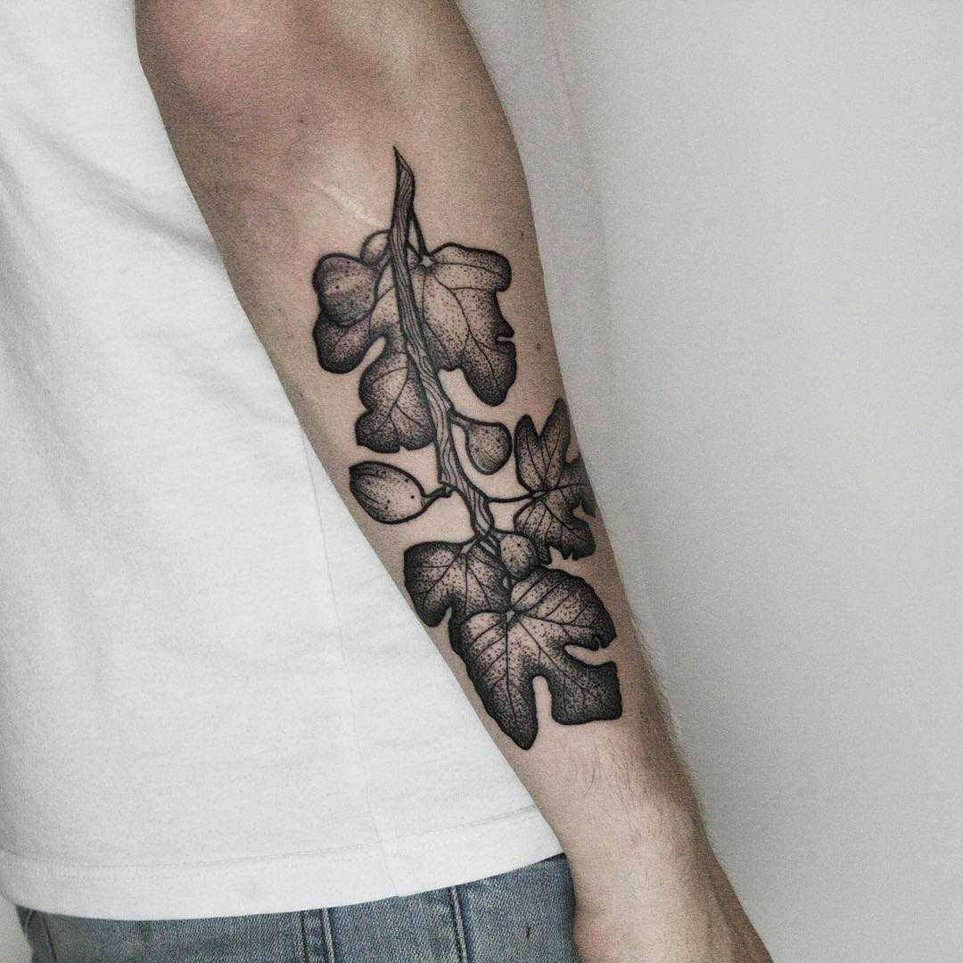 Figbranch tattoo by tattooist Spence @zz tattoo