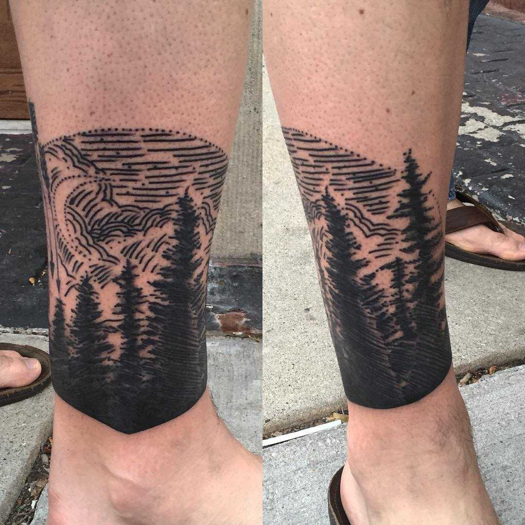 Forest Coverup Tattoo By Tine Defiore Tattoogrid Net