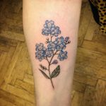 Forget-me-nots tattoo by Annelie Fransson