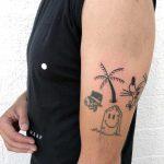 Freehand palm tattoo by tattooist yeahdope