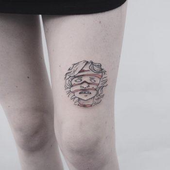 Fruit Ninja tattoo by anton1otattoo